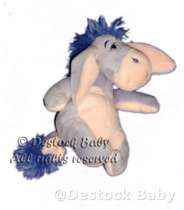 Doudou peluche BOURRIQUET Disney VETIR Nicotoy Bleu clair ciel rose H 15 cm