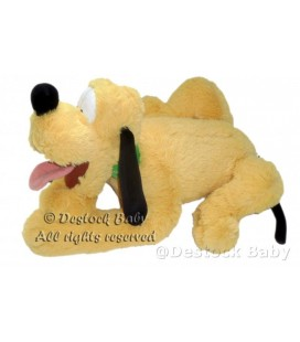 Doudou Peluche PLUTO Disneyland Resort Paris 35 cm allongé Longs poils