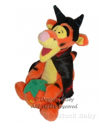Doudou Tigger Pumpkin Citrouille Halloween H 20 cm Disney Store Disneyland Resort