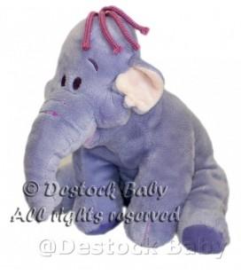 Doudou peluche LUMPY Efelant Elephant mauve H 22 cm Disney Nicotoy