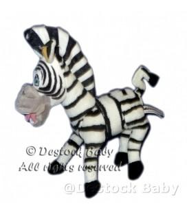 Peluche doudou Zèbre Madagascar 3 - Dreamworks H2H - 26 cm