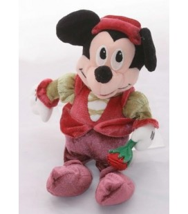 Doudou peluche Mickey fleur rose déguisé - Disneyland Resort 25 cm