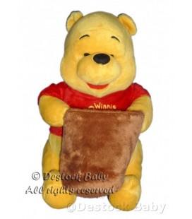 Peluche doudou Winnie l'Ourson Pot de miel H 20 cm Cémoi Disney