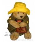 Peluche doudou OURS PADDINGTON Harrods Bear Rainbow Designs H 30 cm