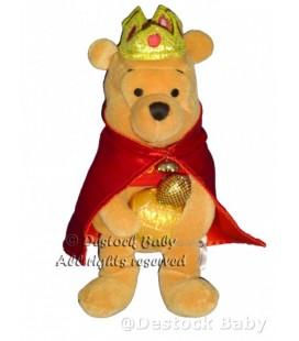 Peluche doudou Winnie l'Ourson Déguisé en roi Mage 2001 Disney store H 22 cm
