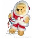 Peluche doudou Winnie l'Ourson Santa Pooh Père Noël Disney store H 22 cm