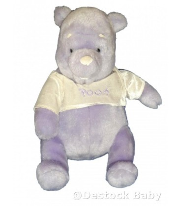Peluche doudou Winnie l'Ourson The Pooh Mauve Exclusive Disney Store H 32 cm
