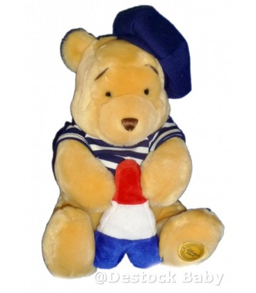 Peluche doudou Winnie l'Ourson Exclusive Disney store Tour Eiffel H 26 cm