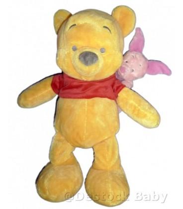 Peluche Winnie l ourson et Porcinet Disneyland Paris Disney 40 cm