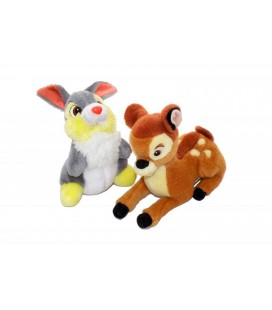 Lot de 2 peluches doudou PAN PAN et BaMBI - Disney