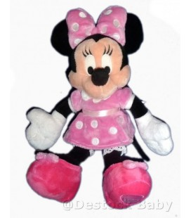 Doudou peluche MINNIE robe rose pois Disneyland Disney Store London H 36 cm