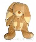 Doudou Lapin chien beige Croix Nombril Grandes oreilles NICOTOY 36/60 cm