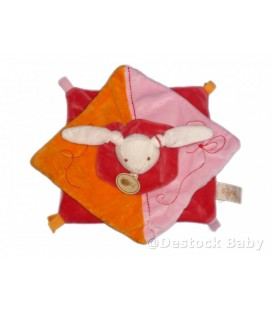 Doudou plat LaPIN rose orange orange BaBY NaT' Babynat