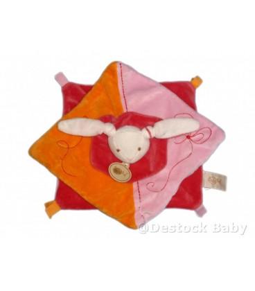 Doudou plat LaPIN rose orange orange BaBY NaT' Babynat
