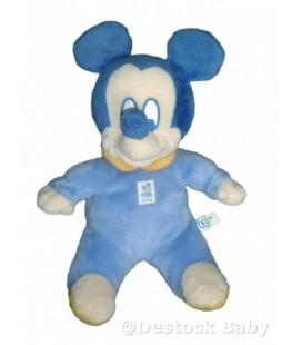 Doudou peluche Mickey Bleu jaune orange Disney Baby 26 cm