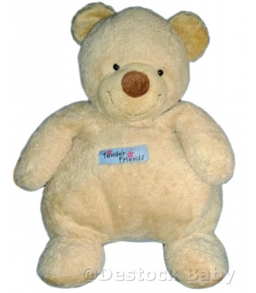 Doudou peluche OURS beige Tender Friends NICOTOY H 40 cm