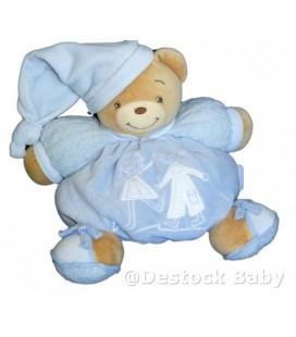 Douduo OURS KaLOO Boule bleu blanc Gd Mod 24 cm Enfants bonhommes brodés