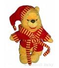 Peluche doudou Winnie Disney Nicotoy Peignoir robe de chambre rouge 30 cm 587/5033