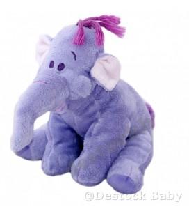 Doudou peluche LUMPY Efelant Elephant mauve Winnie 22 cm Disney Nicotoy