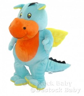 Doudou peluche DRaGON bleu orange jaune aLTHaNS CLUB 28 cm