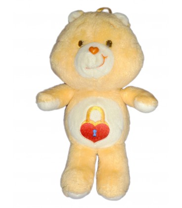 Peluche Bisounours Care Bears Plush Grosecret Secret Bear Orange Cadenas Kenner 36 cm