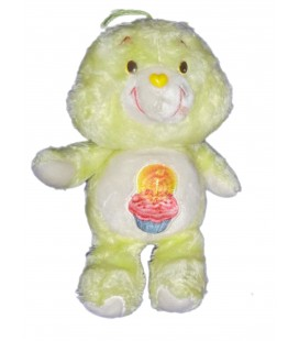 Peluche Bisounours Care Bears Plush Grosgateau Birthsay Bear jaune Gateau 36 cm