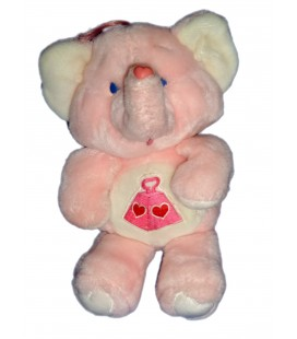 Peluche BISOUNOURS Care Bears Plush TOUCOSTAUD ELEPHANT ROSE TONNE DE COEUR Lots a Heart KENNER 1984 36 cm