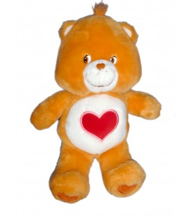 BISOUNOURS CARE BEARS ORANGE COEUR JEMINI 2004 H 32 CM