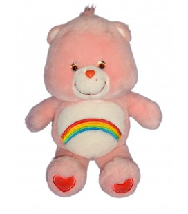 Peluche Bisounours rose Arc en Ciel Care Bears Jemini 2004 32 cm