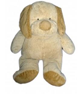 Peluche doudou CHIEN beige marron NICOTOY Orchestra Kiabi Collection Baby H 30 / 45 cm