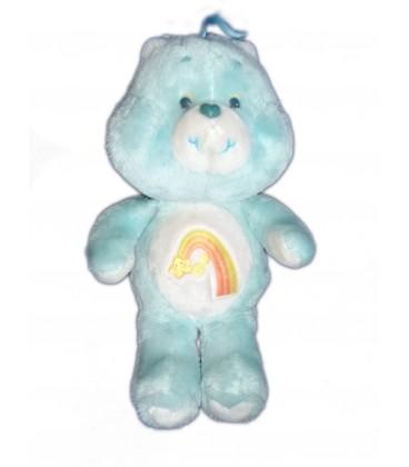 VINTAGE Peluche Bisounours Care Bears Plush Grosecret Grostaquin Wish Bear bleu vert Etoile filante Kenner 36 cm