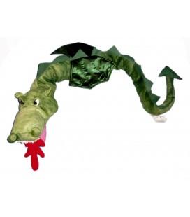 Peluche doudou IKEA Dragon Vert 130 cm Klappar Drake avec étiquettes en tissu