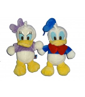 LOT - 2 x Peluche Doudou Donald Daisy Mickey Club House Disney Nicotoy 24 cm