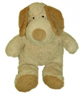 Doudou peluche chien beige marron clair NICOTOY KIaBI The Baby Collection 32 cm