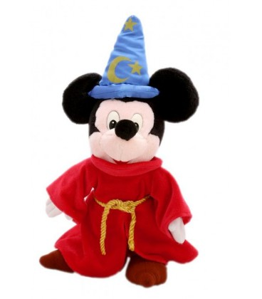Peluche Doudou - Mickey -Magicien Fantasia - Disneyland Paris - 40 cm
