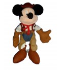 Peluche MICKEY Cow Boy Disneyland Paris H 26 cm