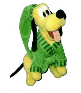 Doudou peluche PLUTO Peignoir Vert Bonnet rayures H 32 cm Disney PTS SRL