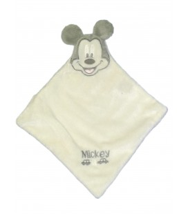 Doudou plat blanc Mickey Disney Cartoon Club Voiture