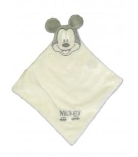 Doudou plat blanc MICKEY Disney Nicotoy Voiture M brodés Nicotoy 26 x 30 cm
