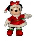 Doudou Peluche MINNIE Déguisée Mère Père Noël Disney Disneyland Paris H 26 cm