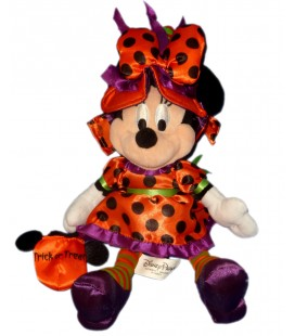Doudou Peluche MINNIE Plush Halloween Déguisée Disney Parks H 30 cm Authentique Original