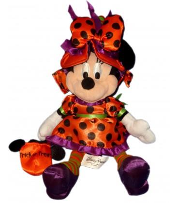 Doudou Peluche MINNIE Plush Halloween Déguisée Disney Parks H 30 cm Authentique Original