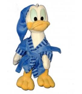 Doudou Peluche DONALD Peignoir Robe chambre Bonnet Disney 38 cm