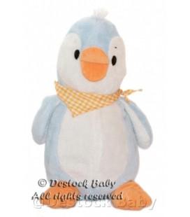 Doudou Peluche Pingouin bleu blanc ALTHANS CLUB 38 cm Foulard Orange
