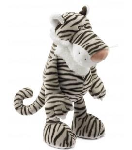 Doudou peluche Tigre gris blanc marron NICI 40 cm