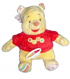 Doudou peluche WINNIE L'OURSON The Pooh Plush Bear Musical H 28 cm Grelot Disney Baby Nicotoy