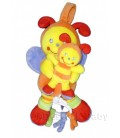 POMMETTE - Doudou abeille Papillon jaune orange - MUSICaL - 24 cm