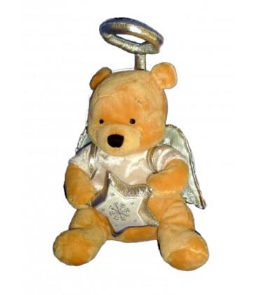 Peluche doudou Winnie l'Ourson Ange gris Blanc Disney Store H 20 cm