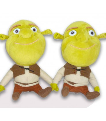 LOT 2 Peluches doudous Shrek Big Headz Dreamworks 24 cm