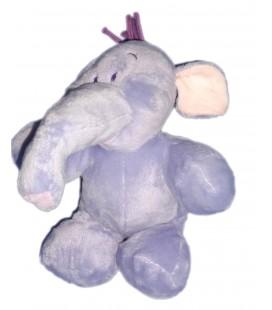 Doudou peluche Floppy LUMPY Elephant mauve Disney Nicotoy 587/3074 H 22/28cm